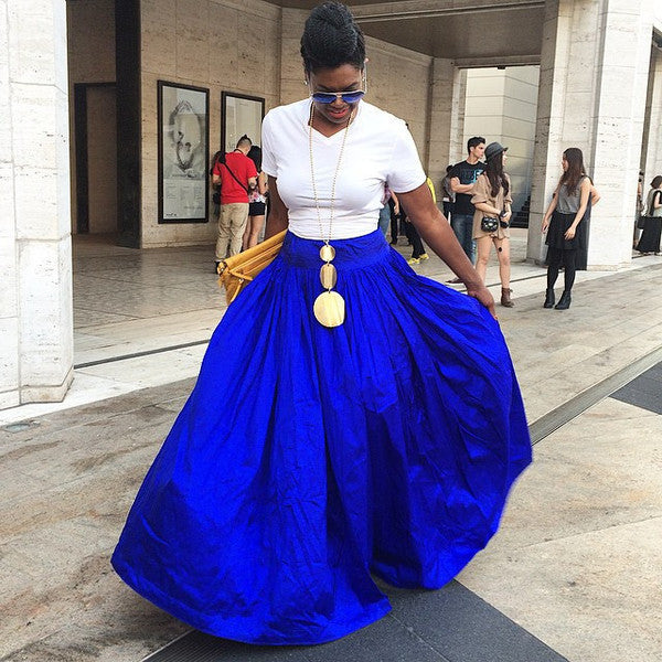 Poufy Skirt, Maxi Skirt, Puffy Skirt, Blue SKirt, Ball, Gown Skirt