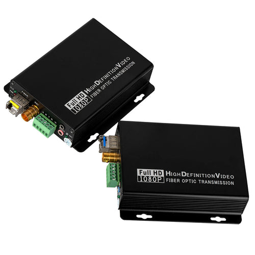 HD SDI to LC Fiber Converter 3.5mm External Audio