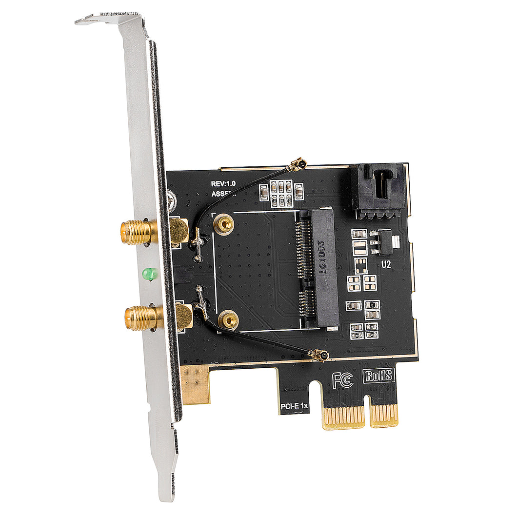 Half Size PCI-e to Desktop PCI-e Adapter Card