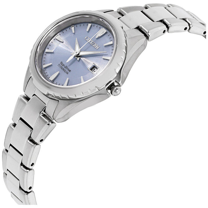 Citizen Eco-Drive Chandler Blue Dial Stainless Steel Women's Watch