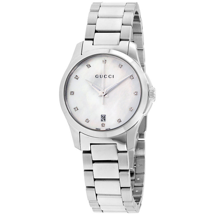 c528d1b4354 Gucci G-Timeless Mother of Pearl Dial Stainless Steel Womens Watch ...