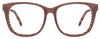 JJ Matte Brown Wooden Wayfarer Eyeglasses - 108670