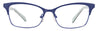 JJ Matte Blue Cat Eye Eyeglasses - 107858