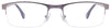 JJ Matte Black Grey Black Rectangle Eyeglasses - 100776