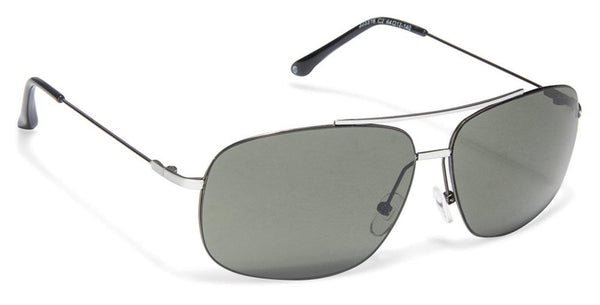 JJ White Gunmetal Rectangle Sunglasses - 103053