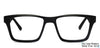 John Jacobs Black Eyeglasses 101206