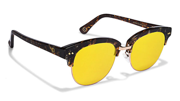 Gold Tortoise Yellow Mirror Full Rim Clubmaster Medium (Size-53) John Jacobs JJ Tints JJ 1456-C2