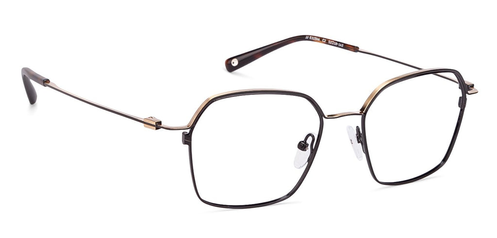 Eyeglasses For Women-Hexagon-Black-EG