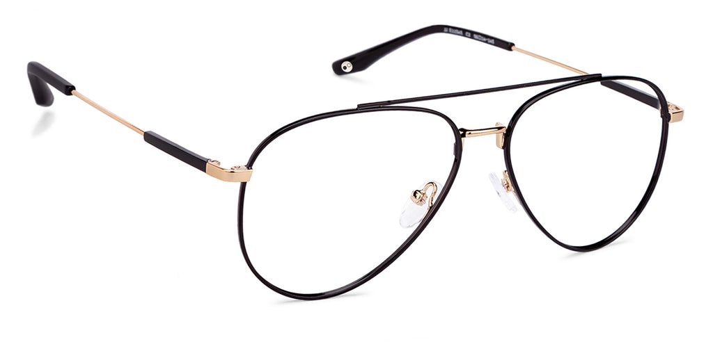 Aviator Eyeglasses-Aviator-Golden-EG