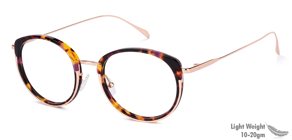 Eyeglasses For Men-Round-Golden-EG