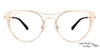 John Jacobs Golden Eyeglasses 132791