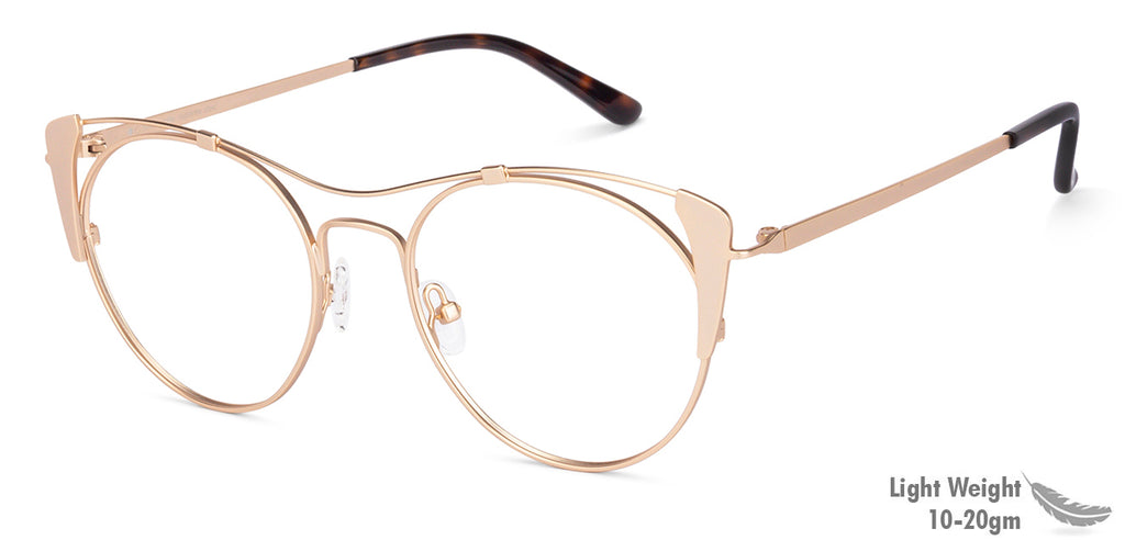 Eyeglasses For Women-Cat Eye-Golden-EG