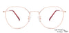 John Jacobs Golden Eyeglasses 135283