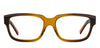 JJ Brown Transparent Rectangle Eyeglasses - 135445