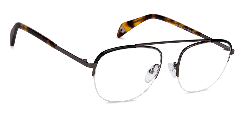 Square Eyeglasses-Square-Grey-EG