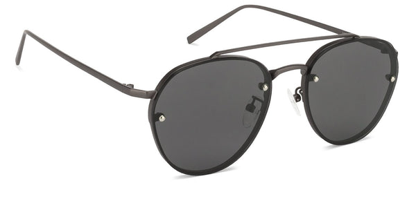 John Jacobs Gunmetal Sunglasses 125062