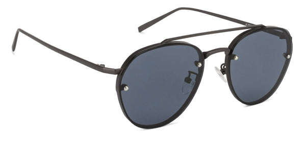 John Jacobs Gunmetal Sunglasses 125063