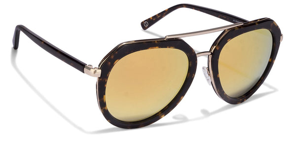 JJ Golden Tortoise Aviator Sunglasses - 116224