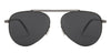John Jacobs Gunmetal Sunglasses 124369