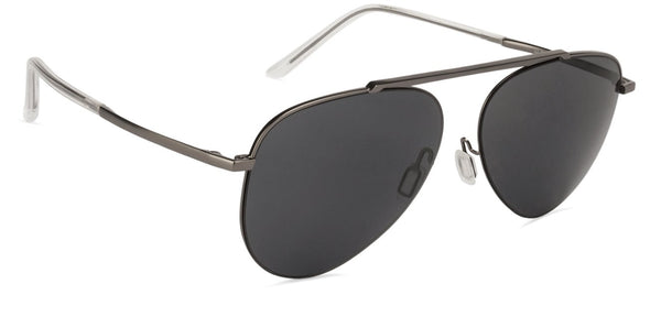 JJ Gunmetal Aviator Sunglasses - 124369