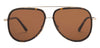 JJ Black Tortoise Aviator Sunglasses - 124656