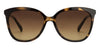 JJ Black Tortoise Cat Eye Sunglasses - 125127