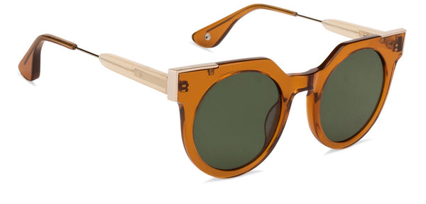 JJ Brown Round Sunglasses - 125898