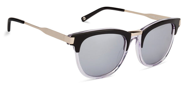 JJ Golden Black Transparent Wayfarer Sunglasses - 125905