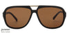 JJ Black Tortoise Square Sunglasses - 127325