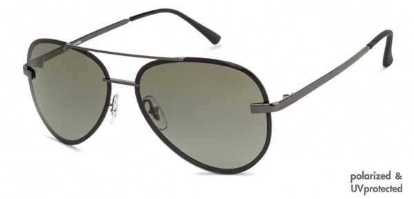 JJ Gunmetal Aviator Sunglasses - 130030