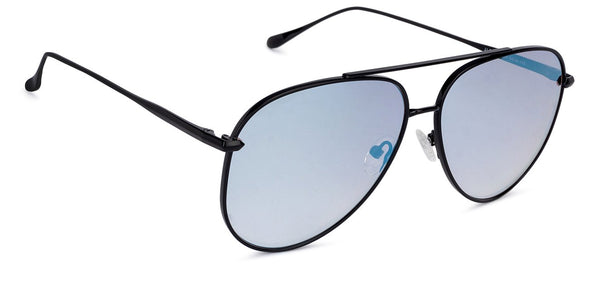 JJ Black Aviator Sunglasses - 130065