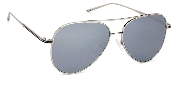 Gunmetal Grey Mirror Full Rim Aviator Large (Size-59) John Jacobs JJ Tints JJ S11472 - C7