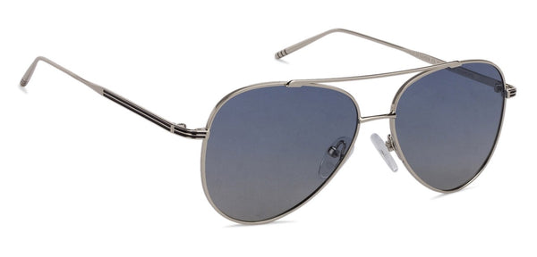JJ Silver Aviator Sunglasses - 130517