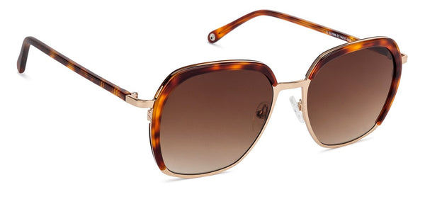JJ Brown Tortoise Square Sunglasses - 130735