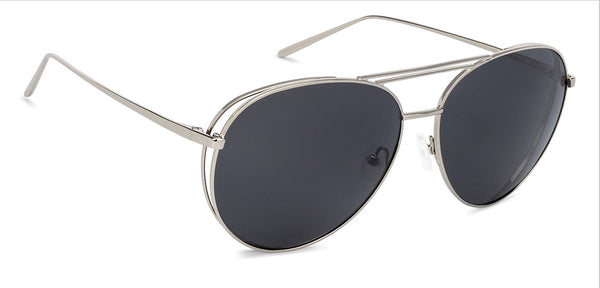 John Jacobs Power Silver Sunglasses 131678