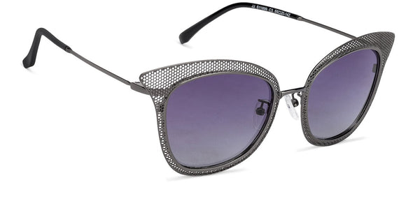 JJ Gunmetal Cat Eye Sunglasses - 132062
