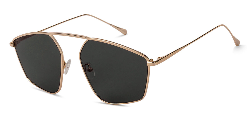 Square Sunglasses-Square-Golden-SG