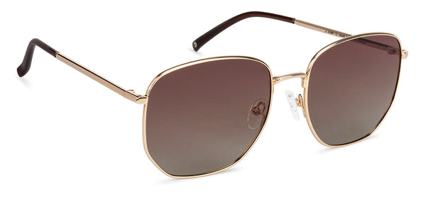 JJ Gold Hexagonal Sunglasses - 136400