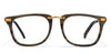 JJ Golden Black Brown Wayfarer Eyeglasses - 107387
