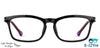 VC Kids Black Rectangle Eyeglasses - 141961