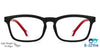 VC Kids Matte Black Rectangle Eyeglasses - 141965