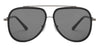 John Jacobs Black Sunglasses 124657