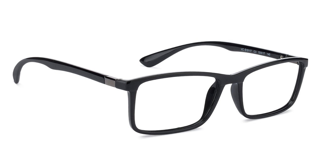 Transition Eyeglasses-Rectangle-Black-EG