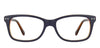 VC Blue Brown Transparent Wayfarer Eyeglasses - 129854