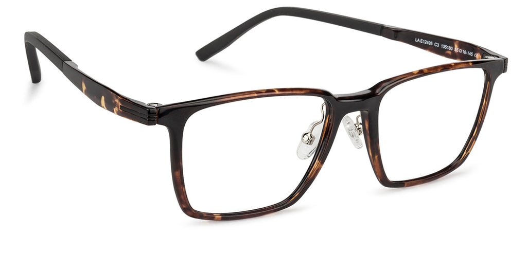 Square Eyeglasses-Square-Brown-EG