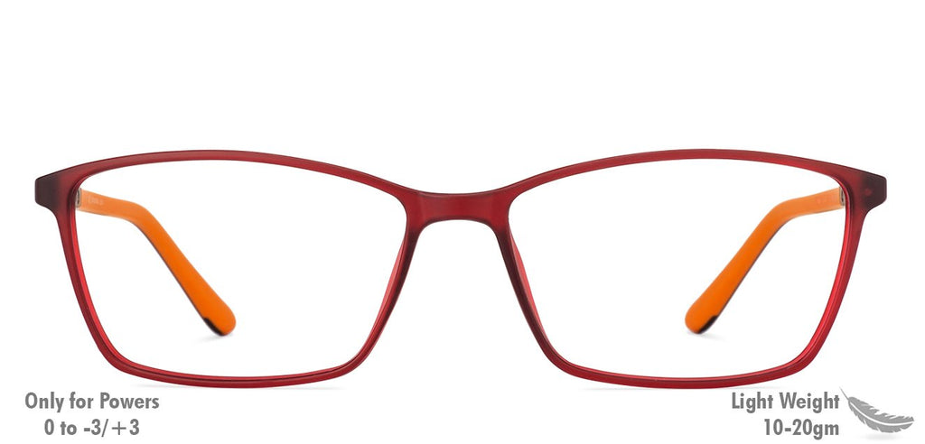 Eyeglasses For Men-Rectangle-Maroon-EG