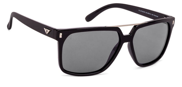 VC Black Gunmetal Square Sunglasses - 131011