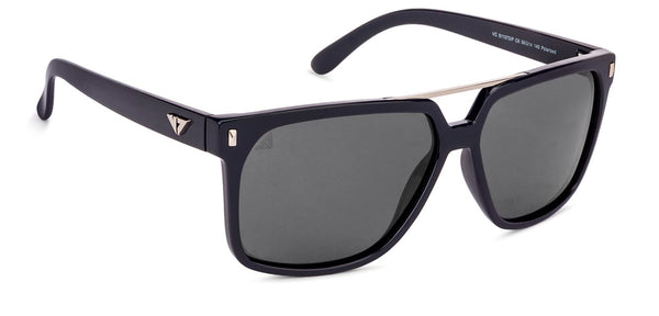 VC Polarized Blue Gunmetal Square Sunglasses - 131012