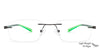 Gunmetal Green Transparent Rimless Rectangle Lenskart AIR Sports VCE12378-C1