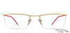 Gold Red Half Rim Rectangle Lenskart Air Online Air Classic VC 006-C21